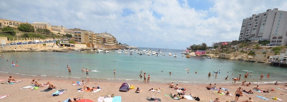 St. George's Bay in Malta